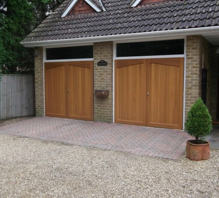 dual brown garage door