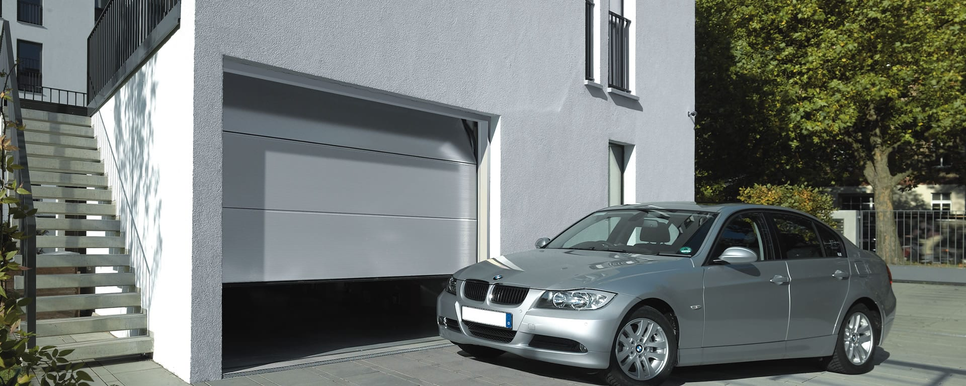 Seceuroglide insulated sectional garage door georgian cassette - Sectional Garage Doors