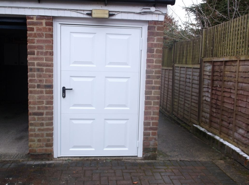 Garage personnel door personnel door garage doors for Garage doors uk