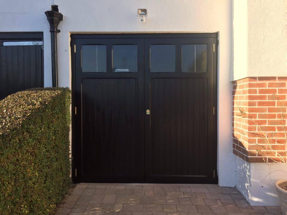 Side hinged garage doors side hung garage doors wooden for Door frame with side window