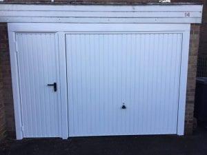 Garador Carlton with matching personnel doors