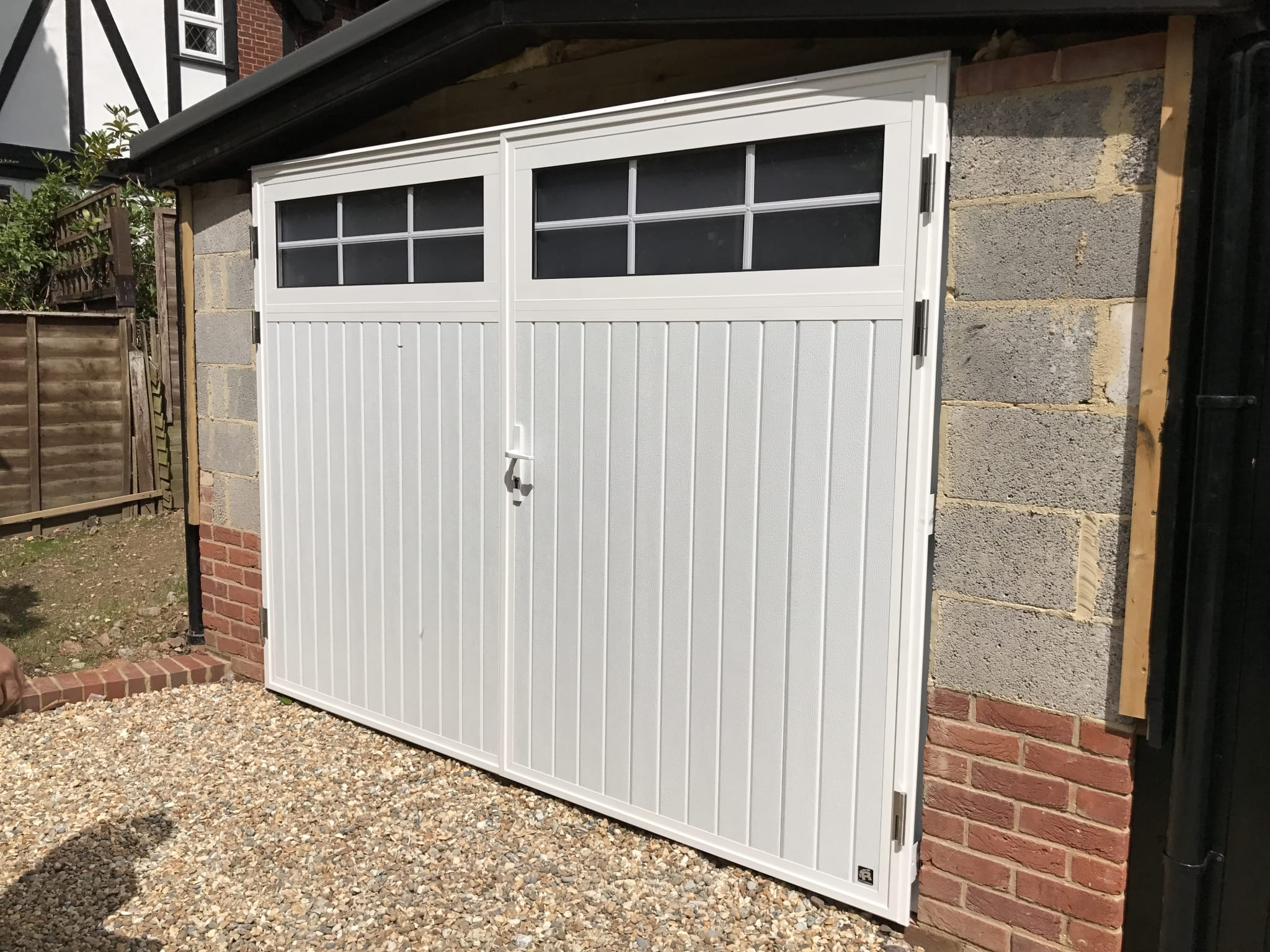 Seceuroglide insulated sectional garage door georgian cassette - Ryterna Traditional Vertical Side Hinged Garage Doors