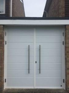 Ryterna Mid Ribbed Horizontal Side Hinged garage doors