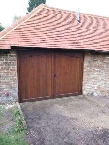 Woodrite Accoya Harling Side Hinged garage doors