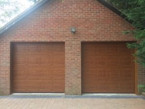 Two Garador Georgian Premium Sectional garage doors