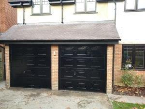 Two Manual Garador Georgian Premium Sectional garage doors