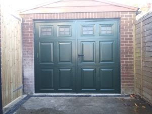 Garador Beaumont with windows Side Hinged garage doors