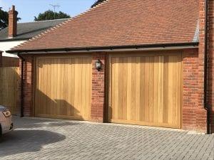 Two Woodrite Uttoxeter Retractable garage doors