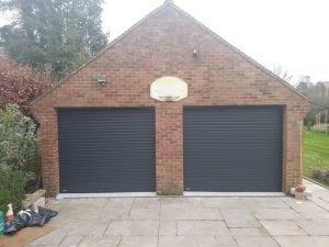 Two Seceuroglide Excel roller shutter garage doors