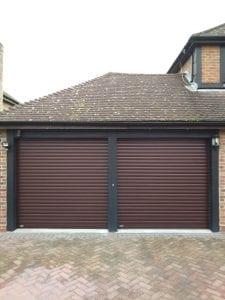 Two Seceuroglide Classic roller shutter garage doors
