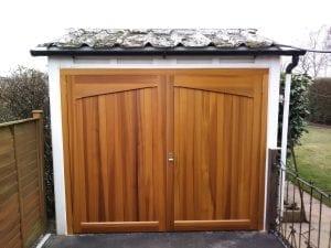Woodrite Gawcott Side hinged garage doors