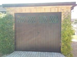 Woodrite Hatton wide side hinged garage doors