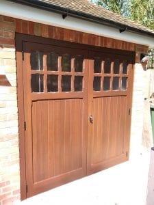 Woodrite Bierton side hinged garage doors
