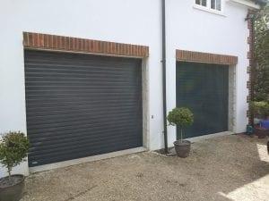 Two Matching Seceuroglide Excel roller shutter garage doors