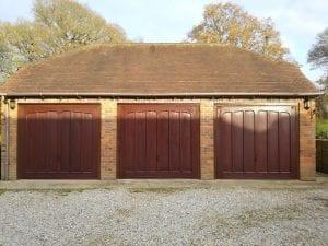 3 Matching Garador Penshurts GRP Retractable up and over garage doors