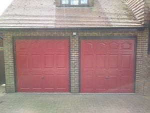 Two Garador Cathedral Canopy up and over garage doors