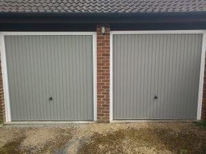 Two Garador Carlton up and over garage doors