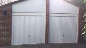 Two Garador Carlton Canopy up and over garage doors