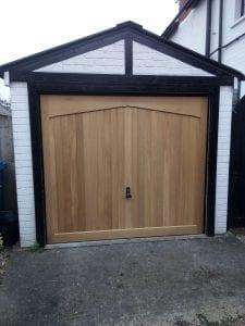 Woodrite Gawcott Timber Retractable up and over garage door