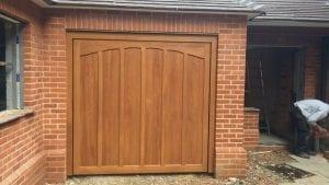 Woodrite Oakwood timber retractable up and over garage door