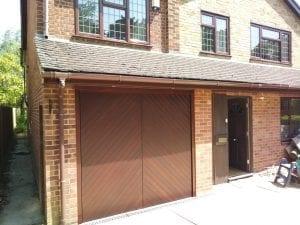 Woodrite Chesham Retractable up and over garage door
