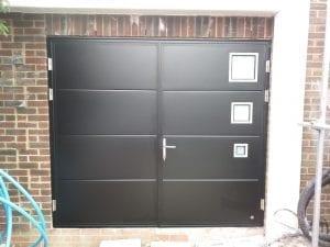 Ryterna Flush Slick side hinged garage doors