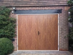 Ryterna Mid Ribbed side hinged garage doors